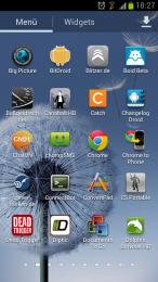 App Menü