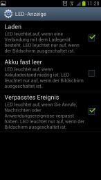 LED Einstellungen