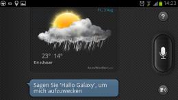 S-Voice Wetter