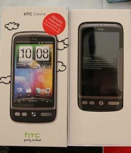 HTC Desire Box geöffnet