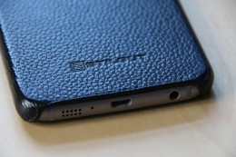 Samsung Galaxy S6 Stilgut Leder Case ohne Deckel in Schwarz