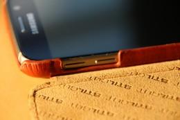 Samsung Galaxy S6 Stilgut Leder Case mit Deckel in Cognac