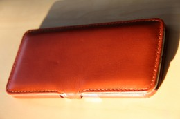 Samsung Galaxy S6 Stilgut Leder Case mit Deckel in Cognac