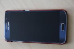 Samsung Galaxy S6 Stilgut Leder Case ohne Deckel in Cognac