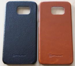 Samsung Galaxy S6 Stilgut Leder Case ohne Deckel in Schwarz vs. Cognac