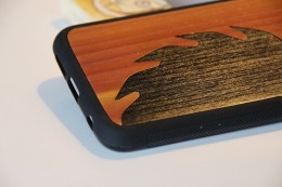 Galaxy S6 Wood Cover Saw Blade Inlay