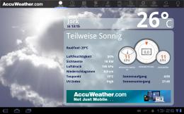 AccuWeather Aktuelle Wetter Bedingungen