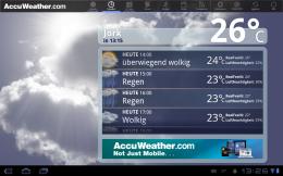 AccuWeather Wetter stündlich