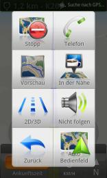 Navigation Bedienfeld