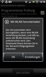 Um mobile Bandbreite zu sparen kann man über WLAN downloaden