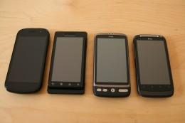 Nexus S, Milestone, Desire, Desire S