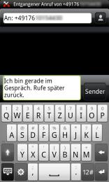 Anruf ablehnen SMS