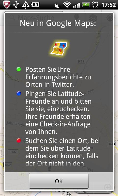 Google Maps 5.2.0 für Android