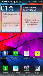 Homescreen mit Kalender