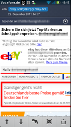 E-Mail Detailansicht