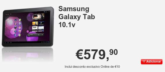 Samsung Galaxy Tab 10.1V in Portugal