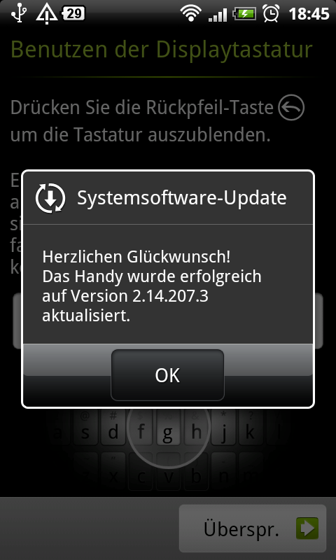 HTC Desire Update O2 Version 2.14.207.3